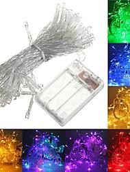 billige -3M Lysslynger 30 LED Varm hvit / RGB / Hvit Kreativ / Fest / Passer for kjøretøy Batterier drevet 1pc