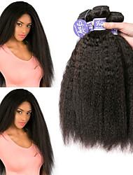 Недорогие -3 Связки Малазийские волосы Яки Вытянутые Необработанные натуральные волосы 100% Remy Hair Weave Bundles Головные уборы Человека ткет Волосы Пучок волос 8-28 дюймовый Нейтральный / Без запаха
