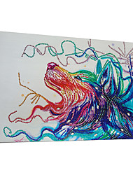 ieftine -Abstract Wall Decor Netesute / uretan poli Animal Wall Art, Pictură cu diamante Decor