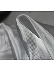 Недорогие -Тюль Однотонный Неэластичный 130 cm ширина ткань для Одежда и мода продано посредством метр