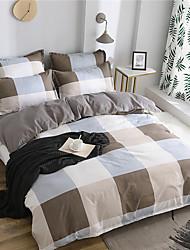 olcso -Paplan Cover állítja Egyszínű / Kortárs Polyster Nyomtatott 4 darabBedding Sets
