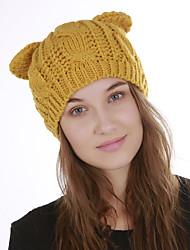 voordelige -Dames Actief Standaard leuke Style Acryl,Effen Floppy hoed-Herfst Winter Rood Beige Geel