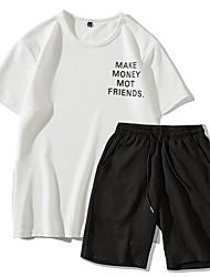 economico -Set Per uomo Con stampe, Alfabetico Bianco XL