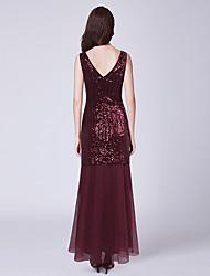 economico -Linea-A Con decorazione gioiello Lungo Tulle / Con strass Vestito da damigella con Lustrini di LAN TING Express