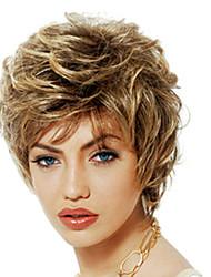 Недорогие -Парики из искусственных волос Чёлки Кудрявый Стиль Свободная часть Без шапочки-основы Парик Золотистый Светло-золотой Искусственные волосы 12 дюймовый Жен. Милый стиль Модный дизайн Женский Золотистый