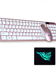 Недорогие -3 шт. Набор беспроводной клавиатуры и мыши комплект 2,4 ГГц тонкие мини-комбо