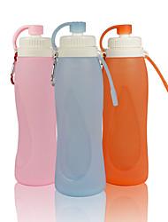 זול -קומקום 5000 ml סיליקון עמ' נייד מתקפל מקרה עמיד למים ל עבודה לטייל בטבע 1 pcs ורוד אפור כתום + לבן