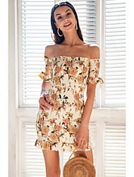رخيصةأون -فستان قصير بطول الركبة للنساء باللون البرتقالي s m l xl