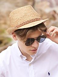 Χαμηλού Κόστους -Άχυρο Ψάθινα καπέλα με Πλεκτό Λουράκι 1 τμχ Καθημερινά Ρούχα / Κεντάκι Ντέρμπι Headpiece