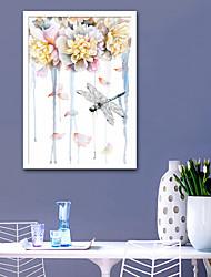 cheap -Framed Canvas Framed Set - Animals Floral / Botanical Plastic Illustration Wall Art