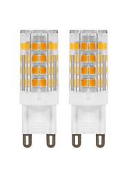 preiswerte -5 W LED Doppel-Pin Leuchten 420 lm G9 T 52 LED-Perlen SMD 2835 Dekorativ Warmes Weiß 220 V 110 V, 2pcs