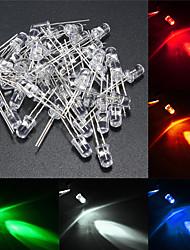 Недорогие -50шт 0.5 cm Светящийся / Своими руками / Аксессуары для ламп Пластиковые & Металл / Стекло Аксессуары Прозрачный