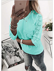 economico -T-shirt Per donna Tinta unita Rosa M