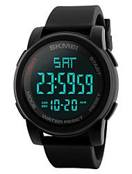 Недорогие -SKMEI Муж. электронные часы Цифровой Нержавеющая сталь силиконовый Черный / Синий / Зеленый 50 m Защита от влаги Календарь С двумя часовыми поясами Цифровой На каждый день На открытом воздухе -
