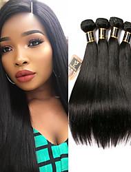 olcso -4 csomópont Brazil haj Egyenes 100% Remy hajszövési csomó Az emberi haj sző Bundle Hair Emberi haj tincsek 8-28 hüvelyk Természetes szín Emberi haj sző Puha Hot eladó Vastag Human Hair Extensions Női