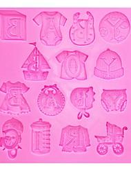 hesapli -Bebek giysileri silikon kalıplar kek sınır fondan kalıpları diy silikon kalıp mutfak pişirme aksesuarları
