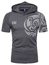 voordelige -Heren T-shirt Kleurenblok Grijs XL