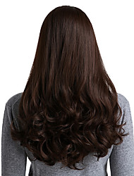 cheap -Synthetic Wig / Ombre Curly / Natural Wave Style Middle Part Capless Wig Brown Brown Synthetic Hair 26 inch Women's Synthetic / New / Comfortable Brown Wig Long / Medium Length Cosplay Wig