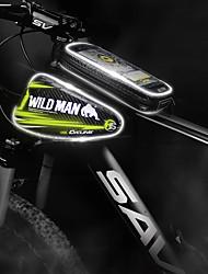 Недорогие -Сотовый телефон сумка Бардачок на раму 5-5.5 дюймовый Компактность Велоспорт для Велосипедный спорт Черный Красный Рыжий