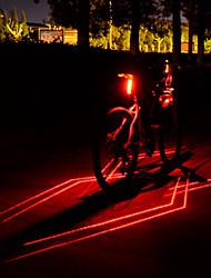 Недорогие -Лазер Светодиодная лампа Велосипедные фары Задняя подсветка на велосипед огни безопасности Горные велосипеды Велоспорт Водонепроницаемый Несколько режимов Супер яркий Литий-ионная 80 lm USB