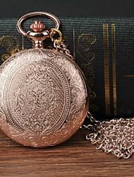 Недорогие -Муж. Карманные часы Кварцевый Розовое золото Повседневные часы Крупный циферблат Аналоговый Цветы Мода - Розовое золото