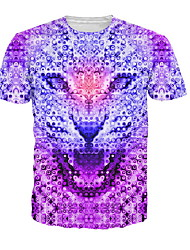 economico -T-shirt Per uomo Animali Viola XXXL