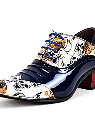 Недорогие -Муж. Официальная обувь Лакированная кожа Весна / Осень Деловые / На каждый день Туфли на шнуровке Нескользкий Черный / Белый / Синий / Платья