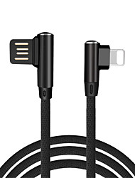 90 Degree USB Cable for iPhone / iPad Fast Charger Cables Mobile Phone Charging
