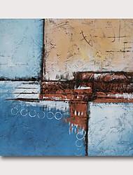 hesapli -Hang-Boyalı Yağlıboya Resim El-Boyalı - Soyut Çağdaş Modern Iç çerçeve dahil / Gerilmiş kanvas