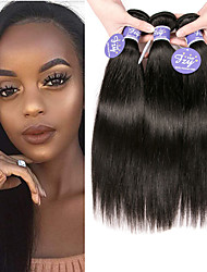 cheap -3 Bundles Brazilian Hair Straight Unprocessed Human Hair 100% Remy Hair Weave Bundles Headpiece Natural Color Hair Weaves / Hair Bulk Bundle Hair 8-28 inch Natural Human Hair Weaves Odor Free Silky