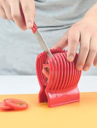 hesapli -Sıcak satış domates bıçağı tutucu kesme kılavuzu patates / soğan meyve sebze kesici mutfak aracı