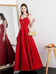 povoljno -A-kroj Tanke naramenice Do gležnja Rastezljivi saten Haljina s po TS Couture®