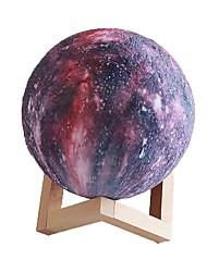 Недорогие -3d печать звезда издание лунный фонарь пульт дистанционного управления шестнадцать цвет 18 см