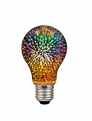 povoljno -1pc a19 / a60 4w vodio 3d šarene zvijezda vatromet žarulja (2200k) e26 / e27 žarulje žarulje baza edison žarulja svjetla za odmor kuće bar ukras multicolor vodio lampa