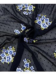 baratos -Chifon Floral Jacquard 150 cm largura tecido para Vestuário e Moda vendido pelo 0,1 m