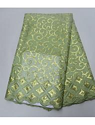 preiswerte -Afrikanische Spitze einfarbig Unelastisch 120 cm Breite Stoff für Bekleidung und Mode verkauft bis zum Yard