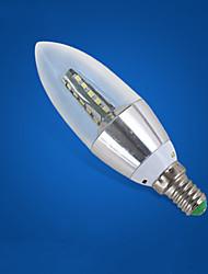 Недорогие -1шт 5 W LED лампы в форме свечи 210-310 lm E14 25 Светодиодные бусины Холодный белый 220-240 V