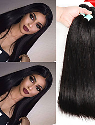 cheap -6 Bundles Indian Hair Straight Unprocessed Human Hair Natural Color Hair Weaves / Hair Bulk Bundle Hair One Pack Solution 8-28 inch Natural Color Human Hair Weaves Life Soft Thick Human Hair
