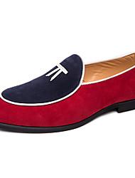رخيصةأون -رجالي البس حذائك المواد التركيبية الربيع / الخريف كاجوال / بريطاني المتسكعون وزلة الإضافات غير الانزلاق ألوان متناوبة أحمر / أزرق