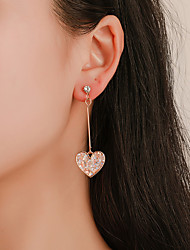 Χαμηλού Κόστους -Γυναικεία Κρεμαστά Σκουλαρίκια θαυμαστής σκουλαρίκια Σκουλαρίκια Καρδιά Κορεάτικα χαριτωμένο στυλ Πολύχρωμα Κοσμήματα Χρυσό Για Δώρο Καθημερινά Δρόμος Αργίες 1 Pair