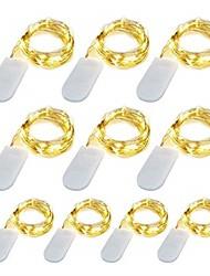 Недорогие -10 pacote 1 m led luzes da corda 10 led micro luzes em fio de cobre de prata para diy peça central da festa de casamento decoração de mesa