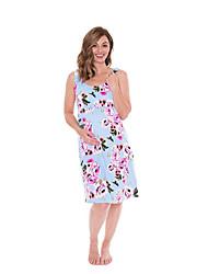 billige -Dame Grunnleggende Elegant T skjorte Skater Kjole - Blomstret, Trykt mønster Ovenfor knéet