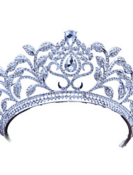 cheap -Alloy Tiaras with Rhinestone 1 Piece Wedding / Party / Evening Headpiece