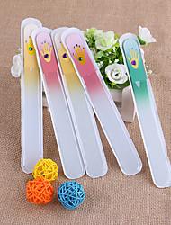 저렴한 -1 세트 유리 네일 아트 도구 제품 손톱 내구성 / 견고함 / 가볍고 편리함 화이트 시리즈 네일 아트 매니큐어 페디큐어 단순한 일상