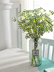 abordables -Fleurs artificielles 5 Une succursale Classique Européen Style Simple Gypsophila Fleurs éternelles Fleur de Table