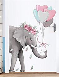 povoljno -kreativni jednostavan slon zidne naljepnice trijem koridor zidne naljepnice spavaonica spavaća soba naljepnice dekoracije samoljepljive pozadine