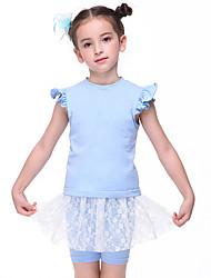 economico -Abbigliamento da ballo per bambini / Danza classica Completi Da ragazza Addestramento / Prestazioni Cotone Di pizzo / Più materiali Manica corta Naturale Abito / Pantaloncini