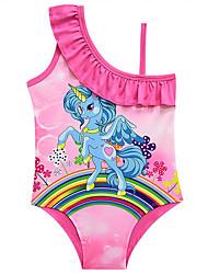ราคาถูก -ชุดว่ายน้ำ ชุดว่ายน้ำชุดคอสเพลย์ สาวบี สำหรับเด็ก คอสเพลย์และคอสตูม คอสเพลย์ วันฮาโลวีน สีม่วง / สีบานเย็น / สีชมพู Unicorn การ์ตูน Polyster เด็กผู้หญิง วันคริสต์มาส วันฮาโลวีน เทศกาลคานาวาล