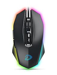 levne -dareu em925 pro kabelové usb optická herní myš multi-barvy podsvícený 12000 dpi 7 ks klíče