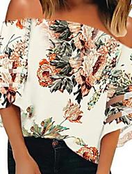 hesapli -Kadın's Bluz Çiçekli Havuz L